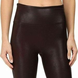Spanx By Sara Blakely Large Faux Leather Leggings